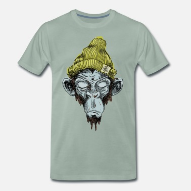 Monkey Monkey with hat - Men's Premium T-Shirt