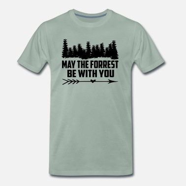 Beetle may the forrest be with you quote Copy - Men's Premium T-Shirt