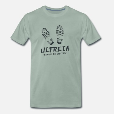 Way Out Camino de Santaigo. St. James. Ultreia T-Shirt Tee - Men's Premium T-Shirt
