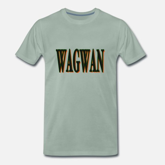 Street Dance T-Shirts - WAGWAN - Men's Premium T-Shirt steel green
