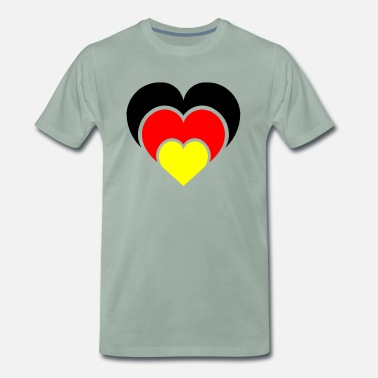 National Team A heart for the national teams - Men's Premium T-Shirt