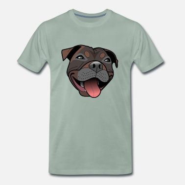 Staffordshire Staffy - Mady - T-shirt Premium Homme