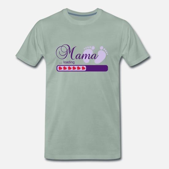 """loading/"""" mit Jahr T-Shirt /""""Mama schwarz, weiß oder rosa"""