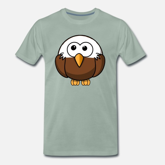 Stile comico calvo adler maglietta premium uomo spreadshirt