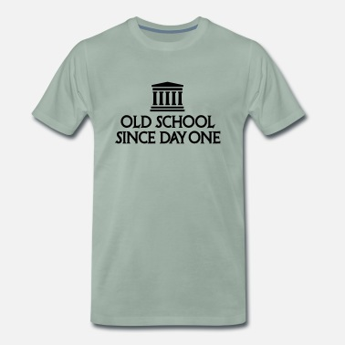 Oldskool Old school since day one History teacher student - Men's Premium T-Shirt