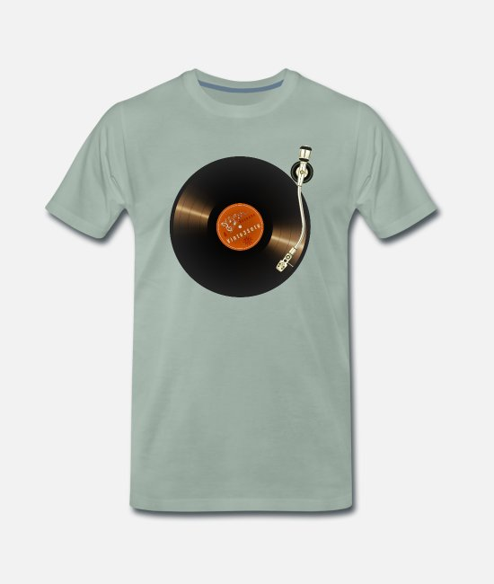 Turn Table T-Shirts - 20200703 Turntable 27 - Men's Premium T-Shirt steel green