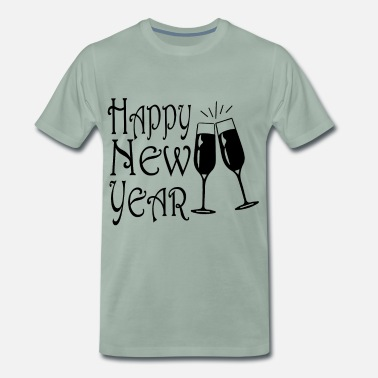 Raclette Toast to the New Year - Bonne année - T-shirt Premium Homme