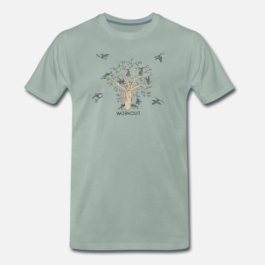 Crow Word game - urban crow - workout tree - Men's Premium T-Shirt