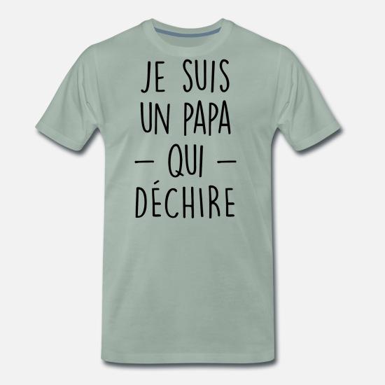 7dd3a95681610 je suis un papa qui déchire père T-shirt premium Homme | Spreadshirt