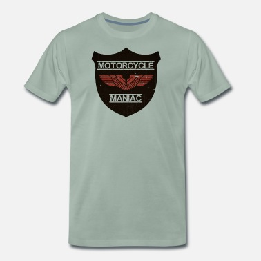 Motorcycle Maniac Red Wing Manner Premium T Shirt Spreadshirt