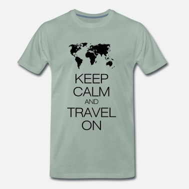 And keep calm and travel on - Premium T-shirt herr