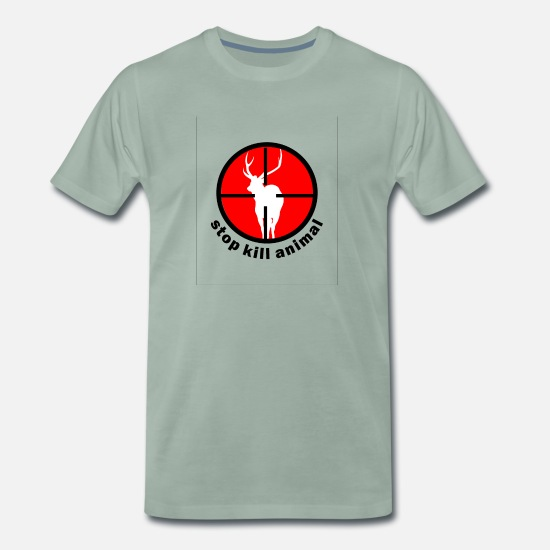 Animal Rights T-Shirts - Tierschutz - Männer Premium T-Shirt Graugrün
