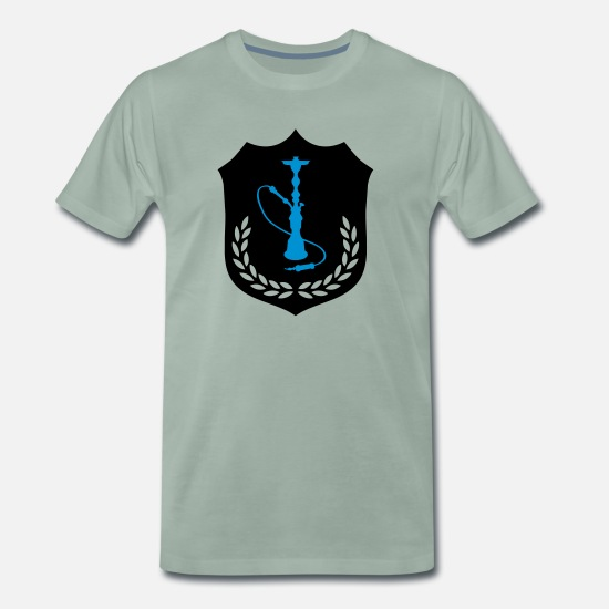 Orient T-Shirts - shisha_wappen_002 - Men's Premium T-Shirt steel green
