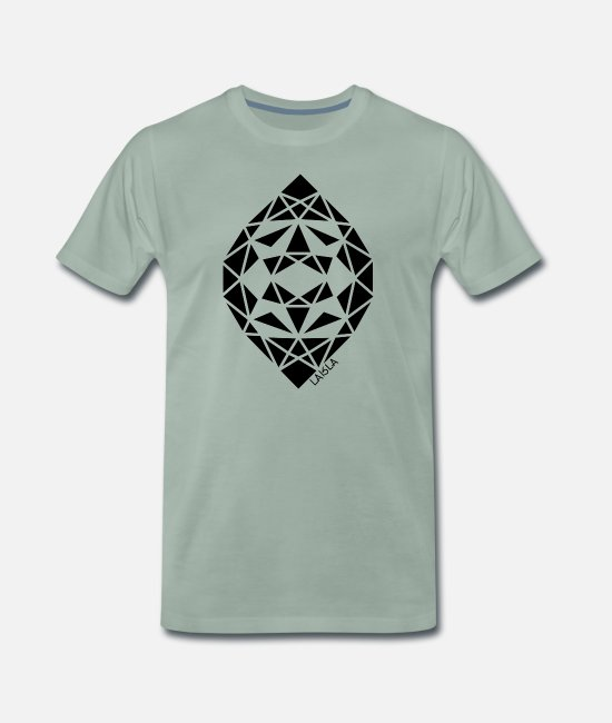 Retro T-Shirts - Drop - Men's Premium T-Shirt steel green