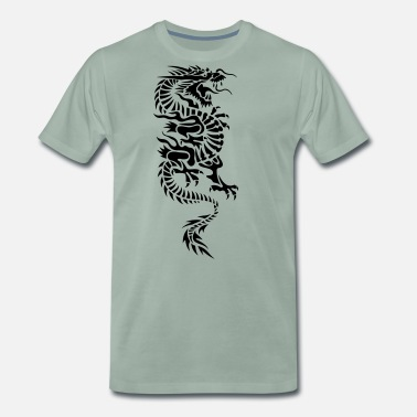Chinese chinese dragon tribal - T-shirt premium Homme