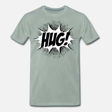 Funny Quotes Comic HUG! Boom, Bang, Superhero, Quotes, Funny - Mannen premium T-shirt