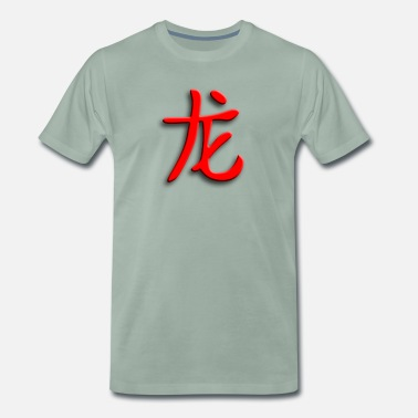 Heldig Fyr chinese_signs_dragon_1 - Premium T-skjorte for menn