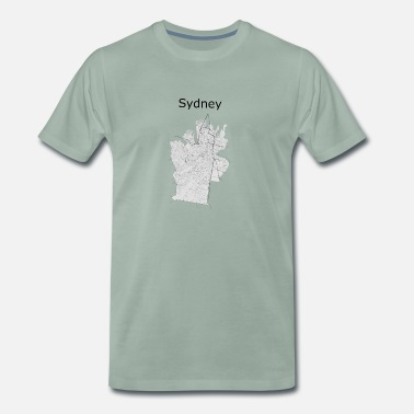Street Style stylized street map Sydney - Men's Premium T-Shirt