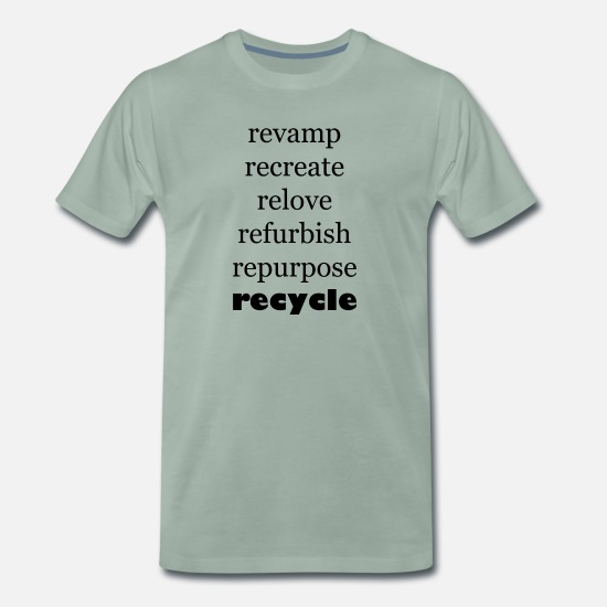 Eco T-Shirts - Recycle - Men's Premium T-Shirt steel green