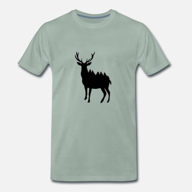 Natural Environment Deer and Forest - Men's Premium T-Shirt