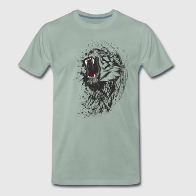 tiger wild black lion bite cool blood gang is fun - Men's Premium T-Shirt