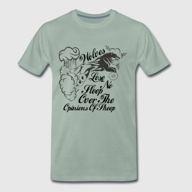 Wolves lose no sleep over the opinions of sheep - Men's Premium T-Shirt