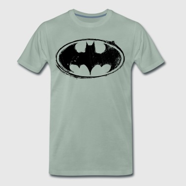 Batman Logo black retro - T-shirt Premium Homme