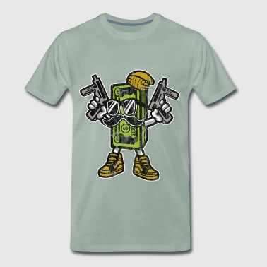 MONEY GANGSTER - cartoon and cartoon shirt motif - Men's Premium T-Shirt