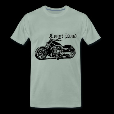 Coast Road Motorcycle Black Collection 1 - T-shirt Premium Homme