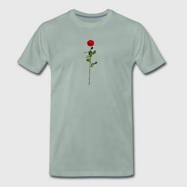 Rose rouge - T-shirt Premium Homme