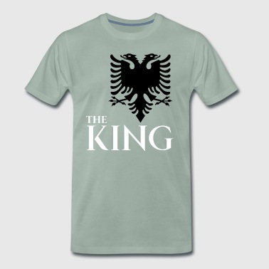 The king of albania shirt kosovo albanisch t-shirt - Männer Premium T-Shirt