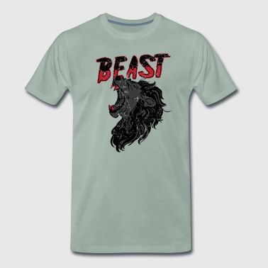 Lion Roaring Beast Shirts & Gifts - Men's Premium T-Shirt