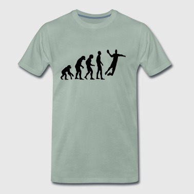 Human Evolution Handball - Männer Premium T-Shirt