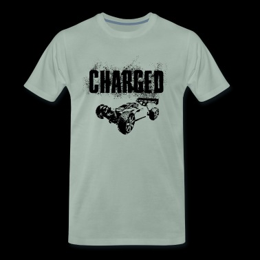 RC Car Racing På Off-Roader CHARGED BLACK - Premium-T-shirt herr