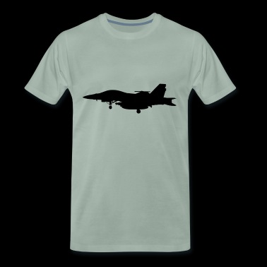 Silhouette fighter - Mannen Premium T-shirt