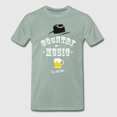 country music beer cowboy hat band western guitar - Men's Premium T-Shirt