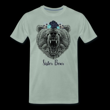 Koele Zuster Bear Wild Grizzly Bear Funny Gifts - Mannen Premium T-shirt