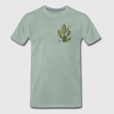 Pear Cactus in Bloom - Premium T-skjorte for menn