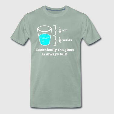 Geeky Technically Glass Full Design - Men's Premium T-Shirt