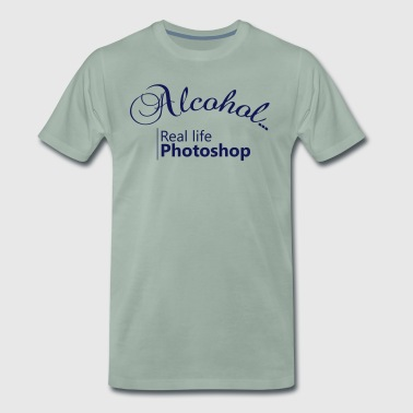 Alcohol Real life Photoshop - Men's Premium T-Shirt