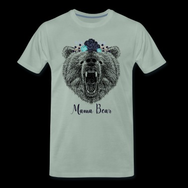 Coole Floral Mama Bear Wild Grizzly Bear Funny Gift - Mannen Premium T-shirt