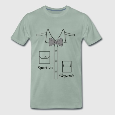 shirt design with italian papion - Men's Premium T-Shirt