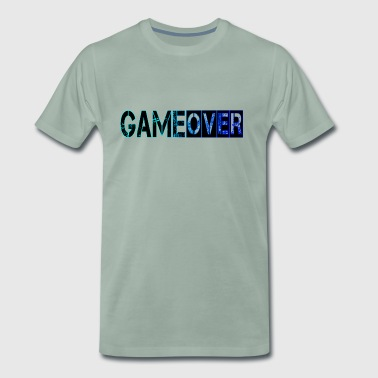 Game Over, Bleu - T-shirt Premium Homme