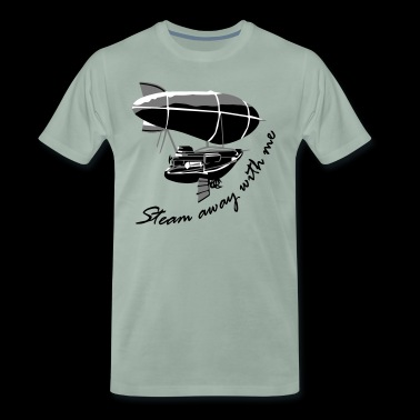 Steam away Airship - Men's Premium T-Shirt