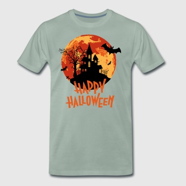 Bloodmoon Haunted House Halloween Design - Männer Premium T-Shirt