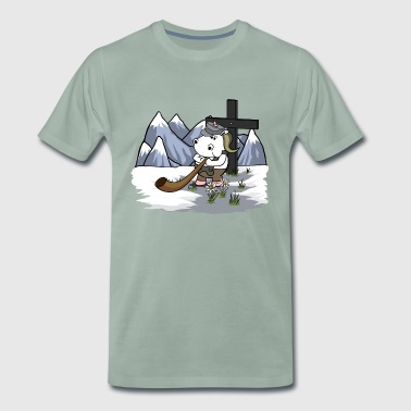 Bundeswehr Mountaineer Unicorn - Herre premium T-shirt