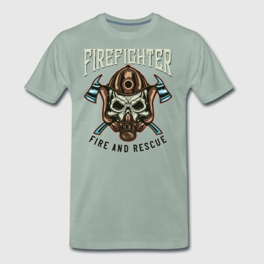 Firefighter fire and rescue - Men's Premium T-Shirt