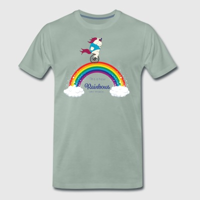 Faules Pummelhorn Einhorn | How rainbows are made - Männer Premium T-Shirt