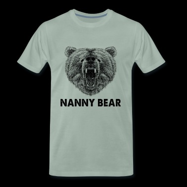 Cool Nanny Bear Wild Grizzly Bear Funny Gifts.SALE - Mannen Premium T-shirt