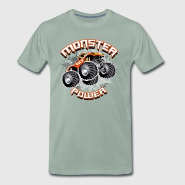 11A-02 POWER-MONSTER TRUCK - FAT-RAD - Männer Premium T-Shirt